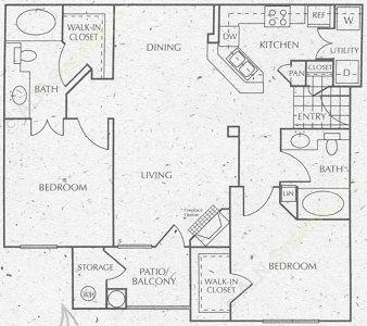 1,269 sq. ft. C1 floor plan