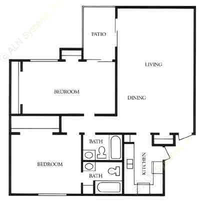 1,212 sq. ft. Austin floor plan