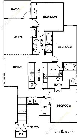 1,445 sq. ft. Coulter floor plan