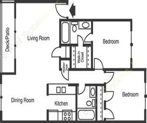 850 sq. ft. B2/Lakeway floor plan