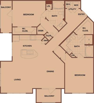 1,409 sq. ft. C4s Mkt floor plan