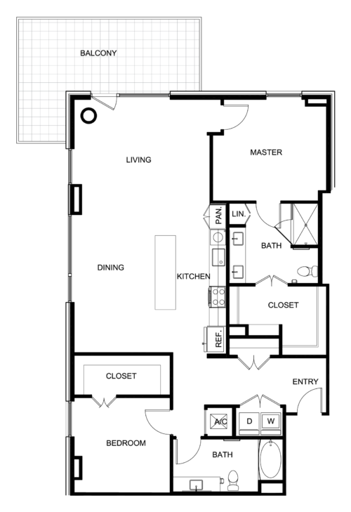1,525 sq. ft. B9 floor plan