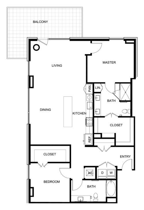 1,525 sq. ft. B9 floor plan