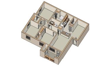 1,100 sq. ft. MKT floor plan