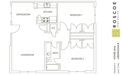 846 sq. ft. B3 floor plan