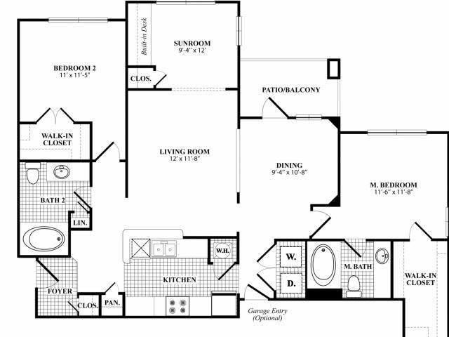 1,267 sq. ft. B21 floor plan