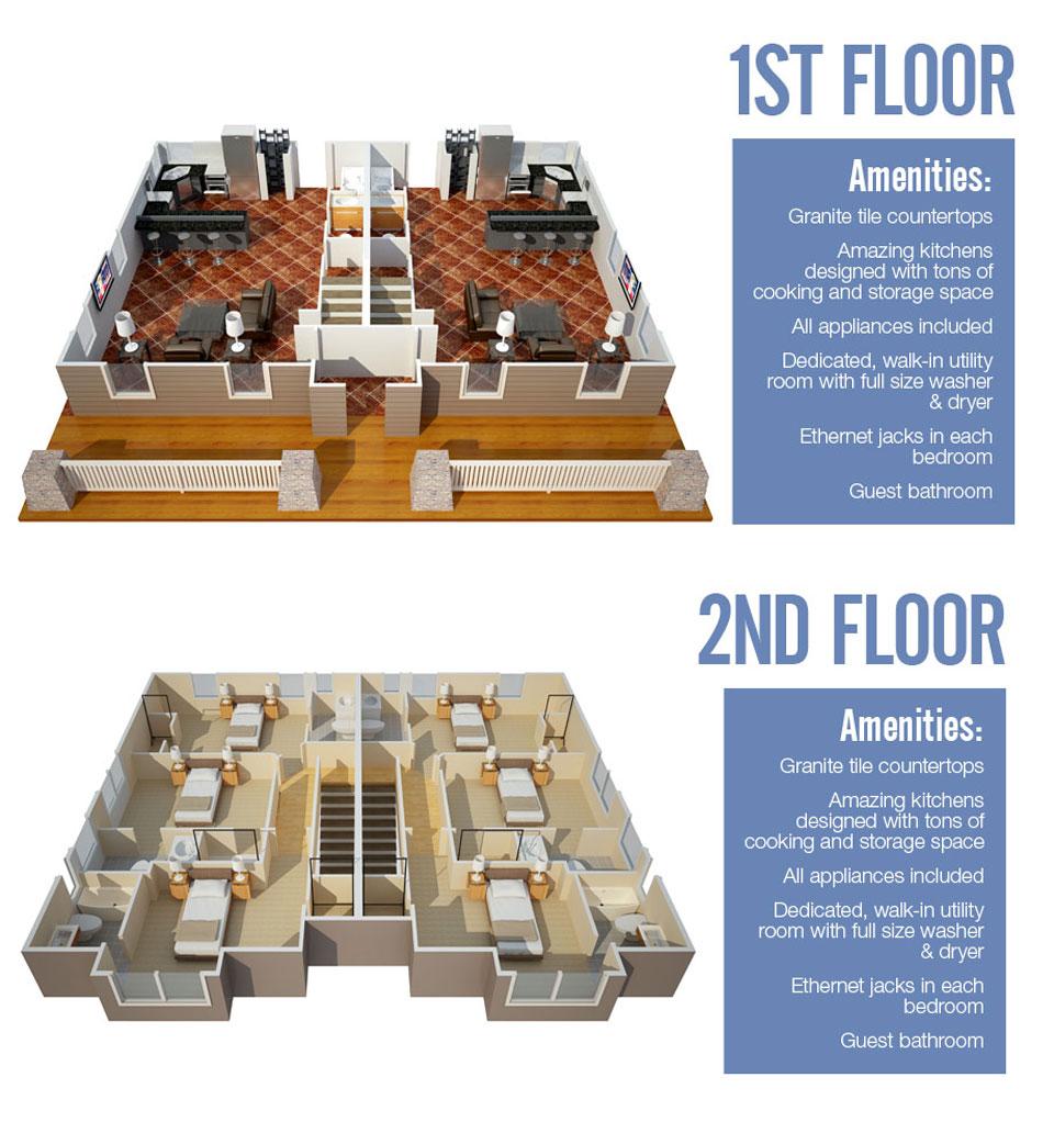 1,700 sq. ft. Frisco floor plan