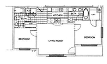 903 sq. ft. A floor plan