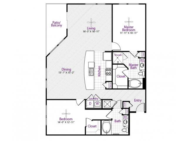 1,533 sq. ft. floor plan