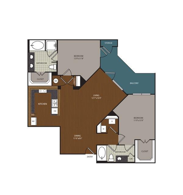 1,293 sq. ft. Richmond floor plan