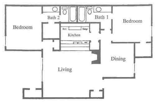 1,109 sq. ft. D5-D6 floor plan
