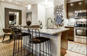 Living/Kitchen at Listing #252771