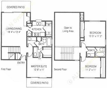 1,310 sq. ft. RO floor plan