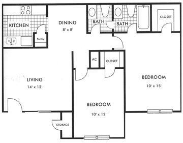 835 sq. ft. floor plan