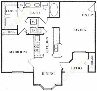 827 sq. ft. Langley floor plan