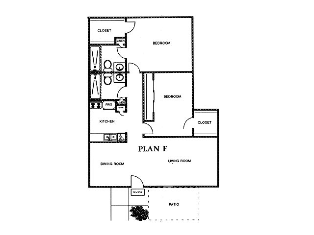1,021 sq. ft. ELM floor plan