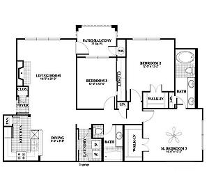 1,352 sq. ft. C1, ALT1 floor plan