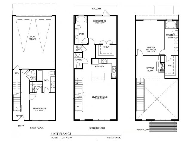1,867 sq. ft. THC.3GG floor plan