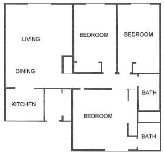 1,169 sq. ft. floor plan