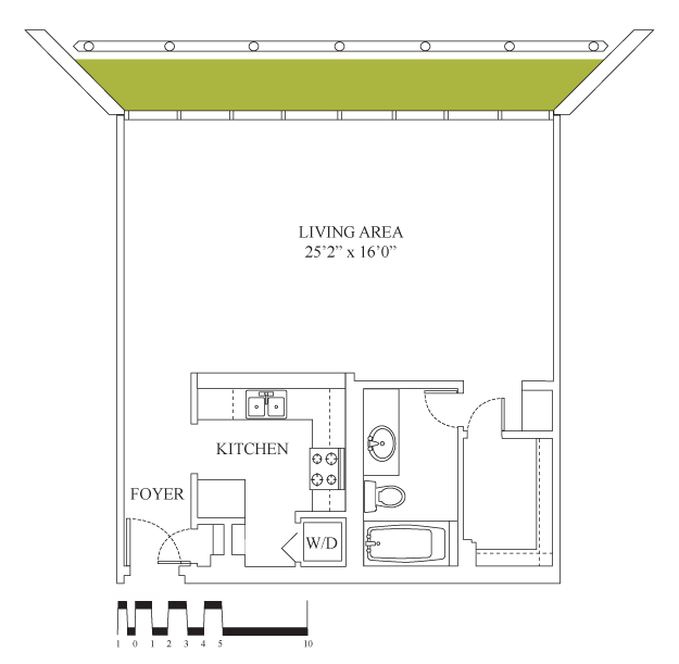 798 sq. ft. floor plan