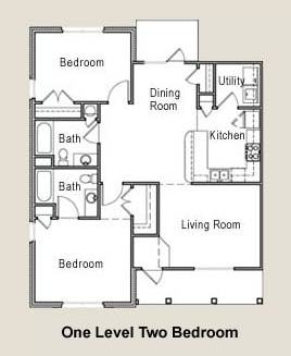 1,134 sq. ft. 60% floor plan