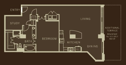 1,337 sq. ft. A13 floor plan