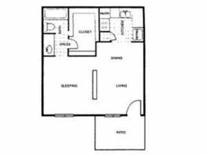 505 sq. ft. B floor plan