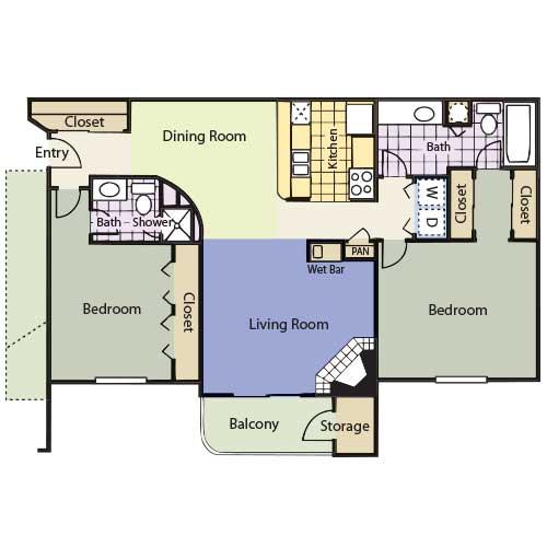 1,079 sq. ft. Churchill floor plan