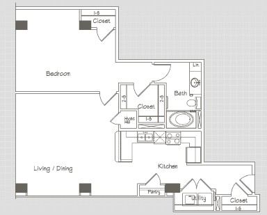 855 sq. ft. A7 floor plan
