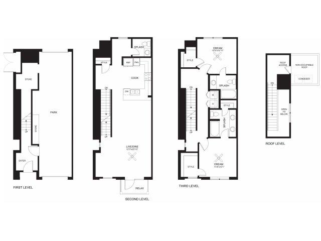 1,544 sq. ft. Perry floor plan