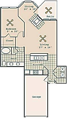 933 sq. ft. A7 GAR. floor plan