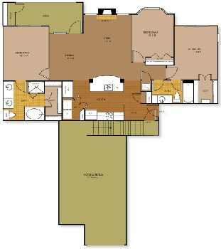 1,355 sq. ft. to 1,364 sq. ft. ASPIRE floor plan