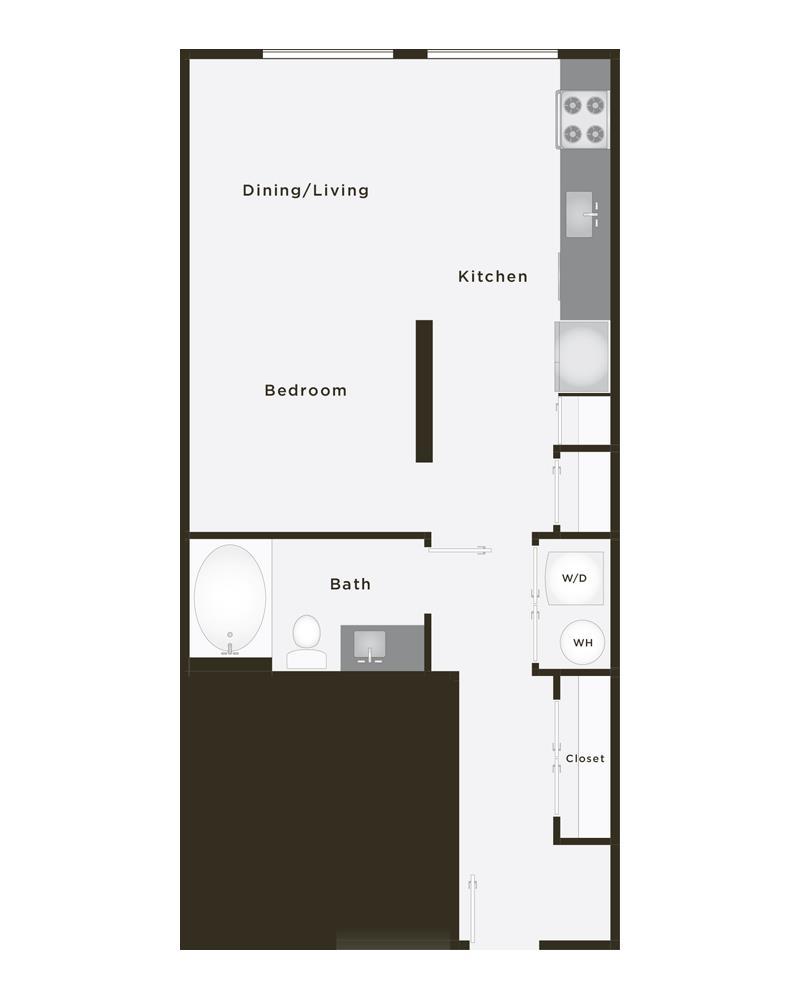 597 sq. ft. Ace floor plan