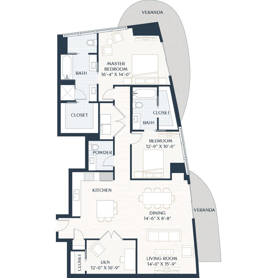 1,745 sq. ft. B7.1 floor plan