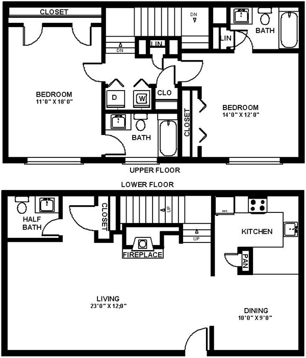 1,319 sq. ft. Diamond floor plan