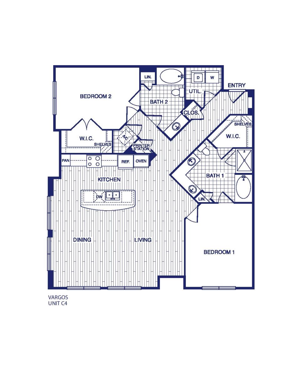 1,419 sq. ft. C4 floor plan