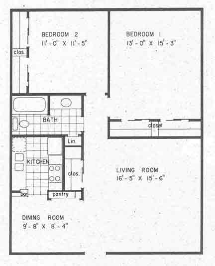 918 sq. ft. B1 floor plan