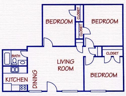 923 sq. ft. floor plan