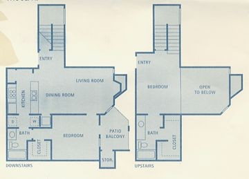 1,115 sq. ft. Vela floor plan