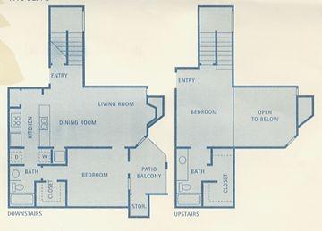 1,115 sq. ft. Vela floor plan