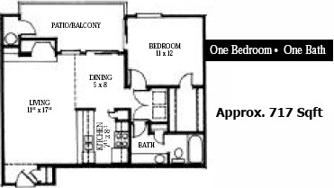 717 sq. ft. floor plan
