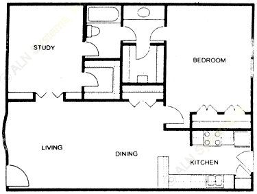923 sq. ft. floor plan