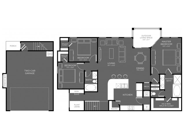 1,579 sq. ft. Timberland floor plan