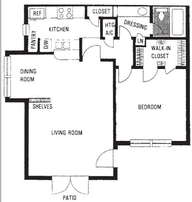 700 sq. ft. A floor plan