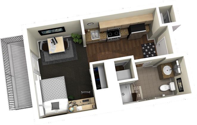 386 sq. ft. floor plan