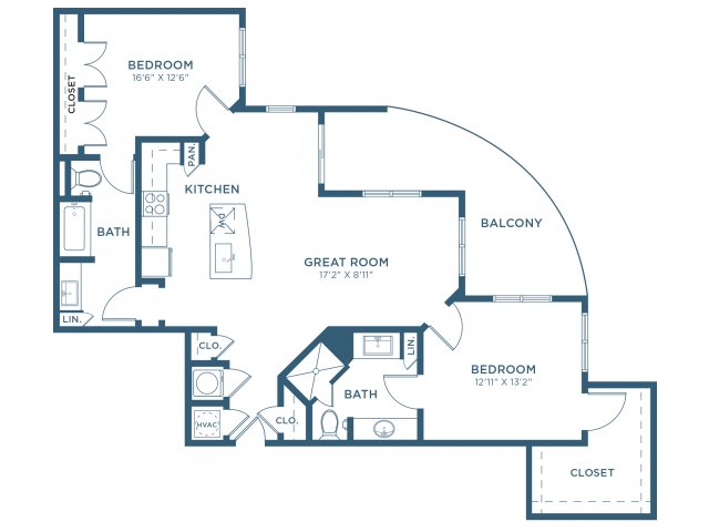 1,230 sq. ft. B9 floor plan