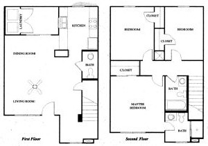 1,352 sq. ft. 60% floor plan
