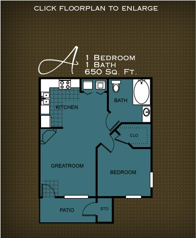 650 sq. ft. PLAN A floor plan