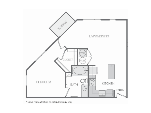 752 sq. ft. to 894 sq. ft. floor plan