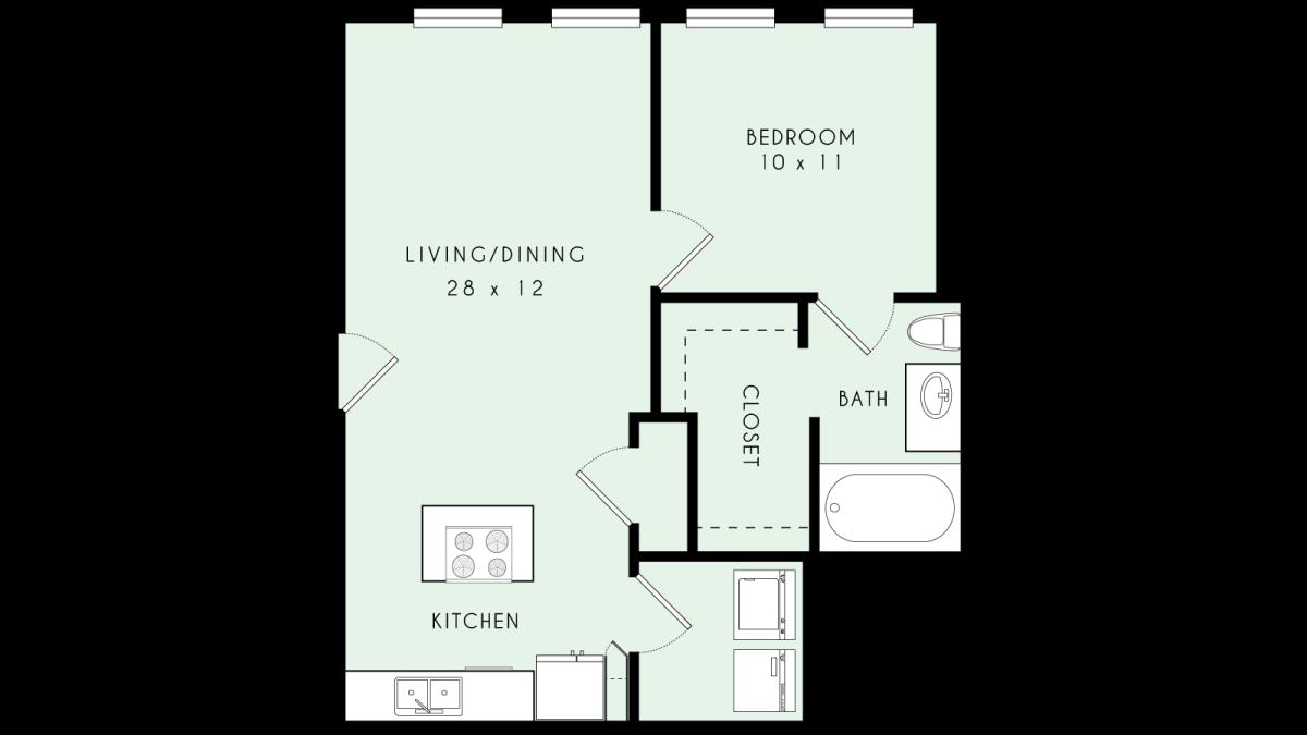 717 sq. ft. A05 80% floor plan